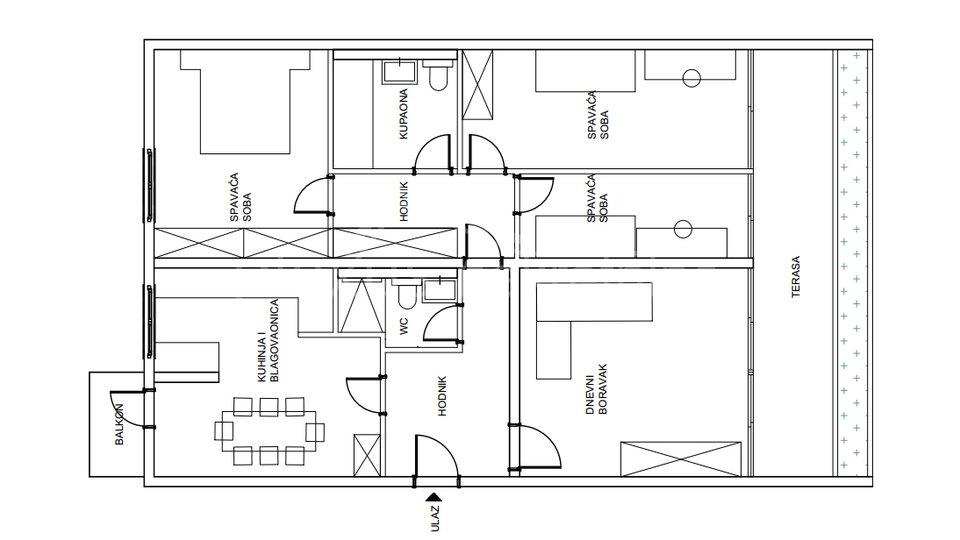 Appartamento, 105 m2, Vendita, Split - Trstenik