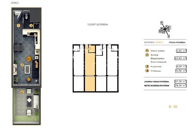 NOVOGRADNJA! Gasonijera: Split - okolica, Kaštel Kambelovac, 34 m2