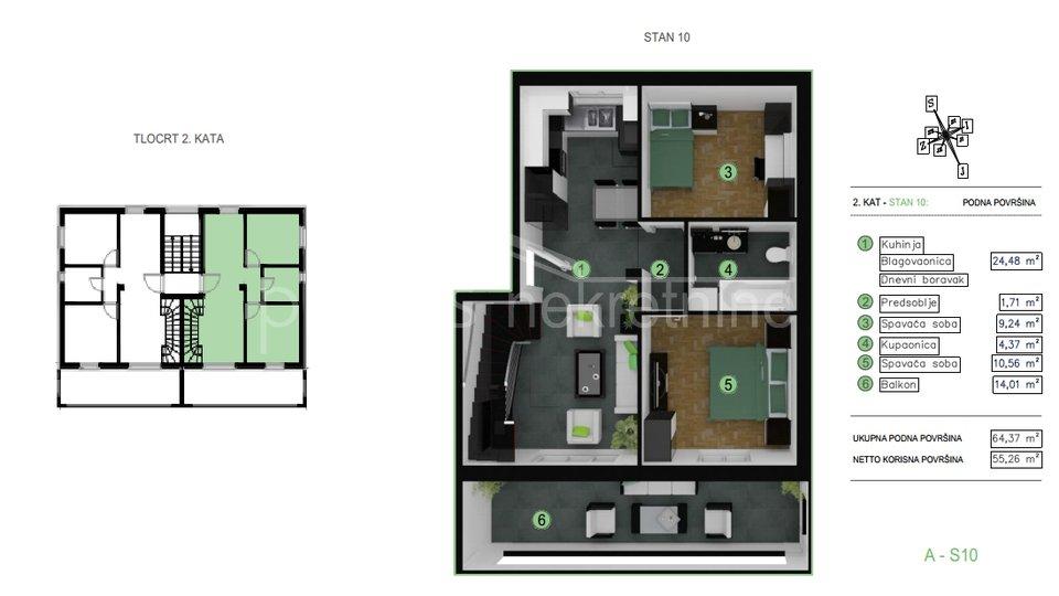 Appartamento, 117 m2, Vendita, Kaštel Kambelovac