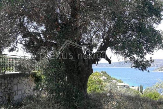 Građevinsko zemljište i objekt s pogledom na more: Drvenik Veli, 118 m2