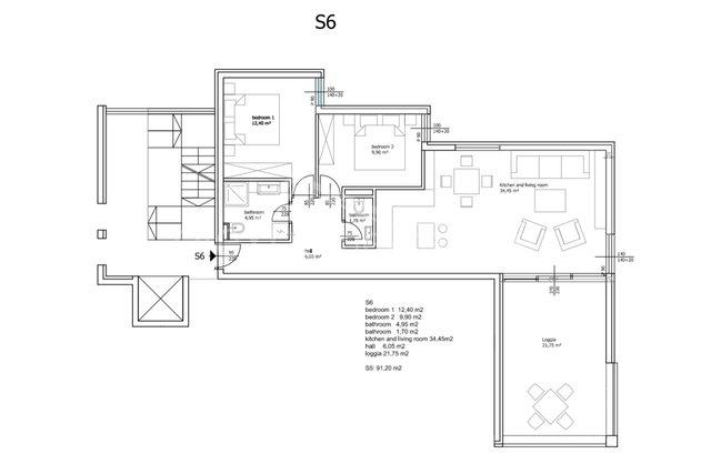 Apartment, 88 m2, For Sale, Seget Vranjica
