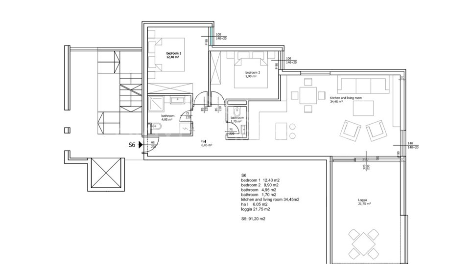 Wohnung, 88 m2, Verkauf, Seget Vranjica