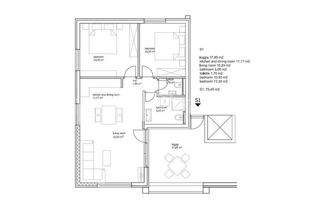 Wohnung, 77 m2, Verkauf, Seget Vranjica