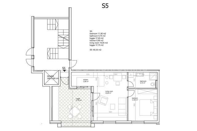 Stan - novogradnja, Trogir - okolica, Seget Vranjica, 62 m2