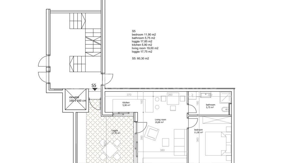 Apartment, 62 m2, For Sale, Seget Vranjica