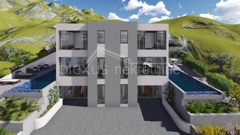 NOVOGRADNJA: kuća - villa: Podstrana, Rudine, 200 m2