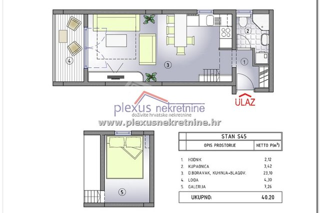 Apartment, 32 m2, For Sale, Kaštel Štafilić