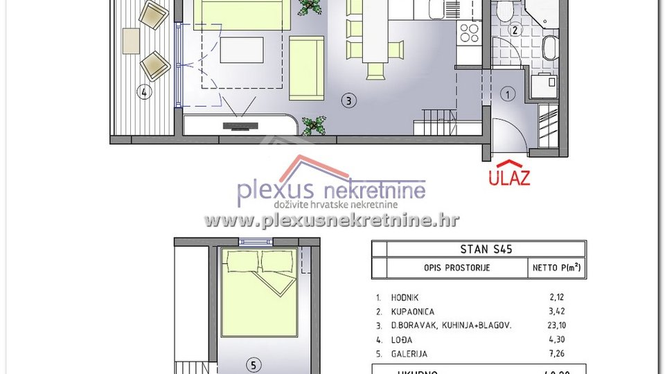 Apartment, 32 m2, For Sale, Kaštel Štafilić