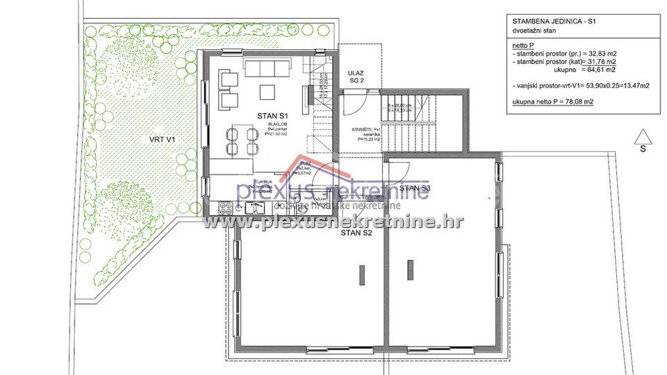 Wohnung, 85 m2, Verkauf, Kaštel Lukšić