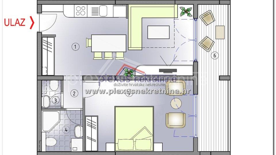 Apartment, 55 m2, For Sale, Kaštel Štafilić