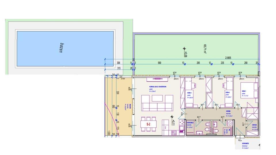 NOVOGRADNJA! Trosoban stan s vrtom: Seget Donji, 109 m2
