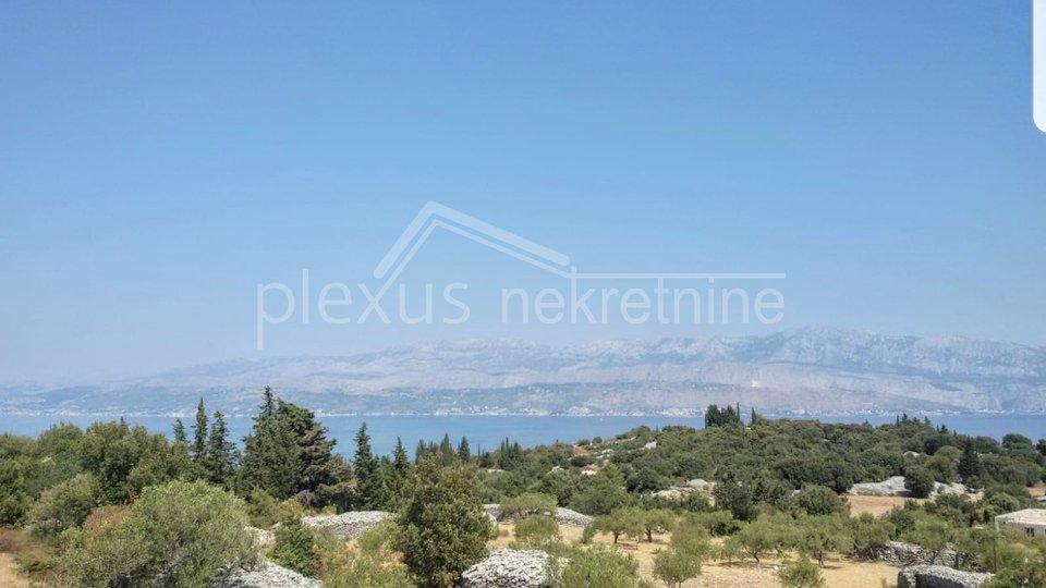 SNIŽENO! Građevinsko zemljište s pogledom na more: Brač, Škrip, 2157 m2