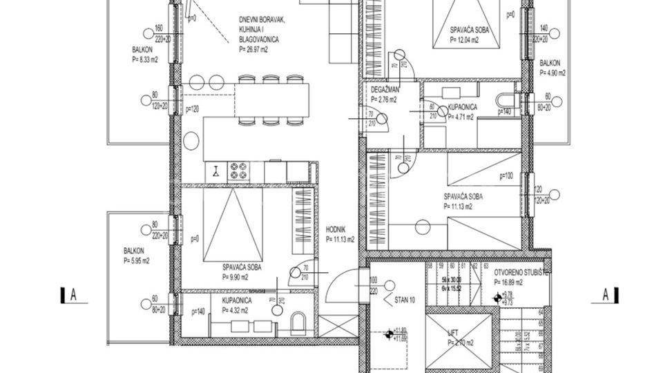 Stanovanje, 122 m2, Prodaja, Seget Donji