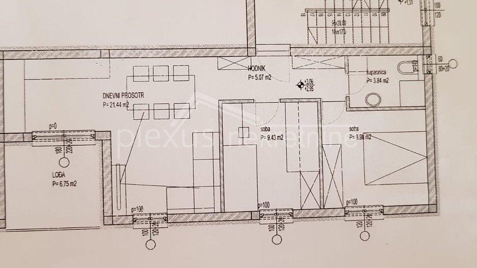 NOVOGRADNJA: Dvosoban stan: Trogir, 57 m2