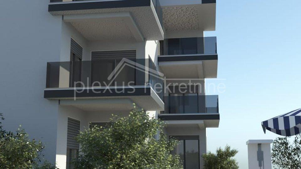 Luksuzni dvosoban stan s terasom i bazenom: Okrug Gornji, 75 m2