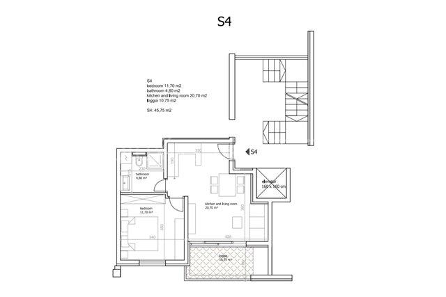 Apartment, 42 m2, For Sale, Seget Vranjica