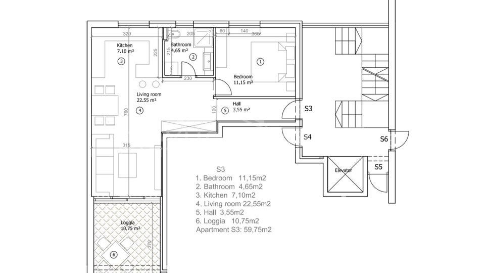 Appartamento, 53 m2, Vendita, Seget Vranjica